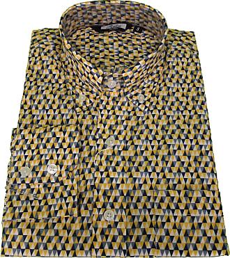 Relco Mens Triangle Retro Print Design Shirts (X Large) Yellow