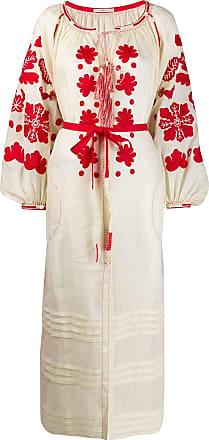Vita Kin Vestido com bordado - Neutro