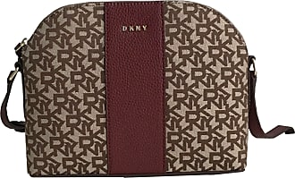 DKNY Beca Small Dome Canvas and Leather Shoulder Crossbody Bag