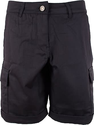 Noroze Noroze Womens Cotton Combat Cargo Chino Shorts, Black, XL (14)