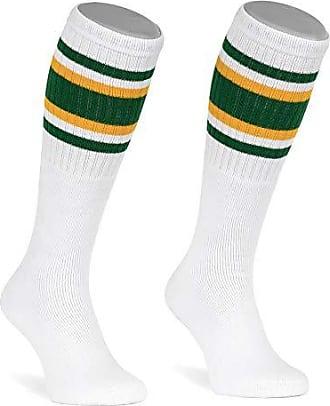 Skatersocks 19 Inch Tube Socken Kniestr/ümpfe oldschool Sportsocken wei/ß Streifen