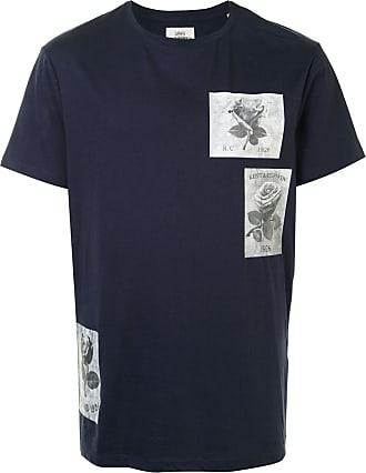 Kent & Curwen rose-print crew neck T-Shirt - Blue