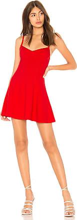 Superdown Daisy Skater Dress in Red
