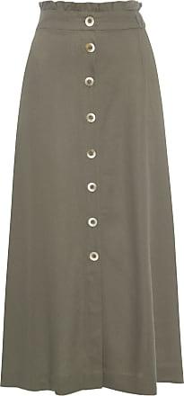 Dress To Saia Abotoamento Lateral - Verde
