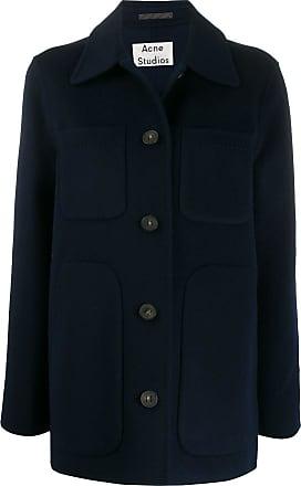 Acne Studios collared pocket coat - Blue