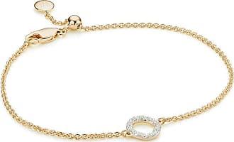 Monica Vinader Riva Mini Circle Diamond bracelet - GOLD