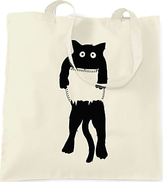 Tim And Ted Funny Cute Cat Tote Bag Black Kitten in Pocket - (Natural/One Size)