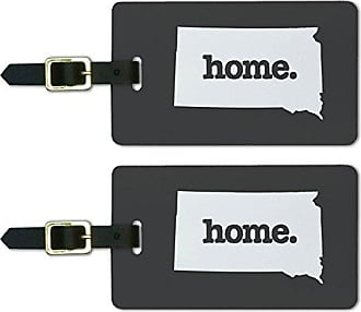 Graphics & More Graphics & More South Dakota Sd Home State Luggage Suitcase Id Tags-Solid Dark Grey Gray, White