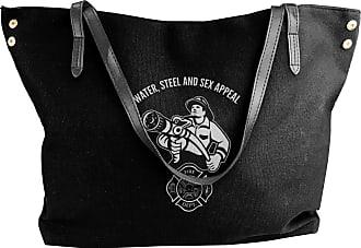 Juju Firefighter Fireman Fire Department Womens Classic Shoulder Portable Big Tote Handbag Work Canvas Bags