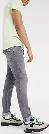 Weekday Sunday - Schmal zulaufende, lockere Jeans in Grau