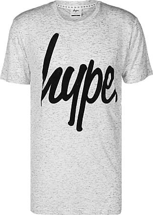 Hype Hype Mens Flecked Graphic Logo T-Shirt, Grey, X-Small
