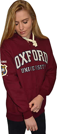 Oxford University Licensed Zipped Unisex Hooded Sweatshirt Maroon (XL)