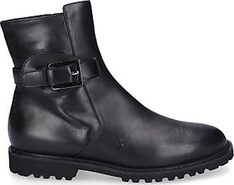 Unützer Ankle Boots 8750 lambskin Decorative buckle Logo black