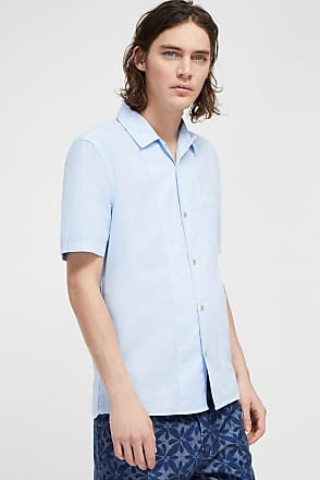 French Connection Garment Dye Poplin Short Sleeve Shirt