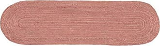 VHC Brands Boho & Eclectic Farmhouse Tabletop & Kitchen - Jute Pink Runner, 13 x 48, Coral
