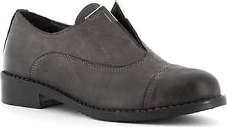 Generico Made in Italy Leather Shoes with Elastic - Grey Grey Size: 6 UK