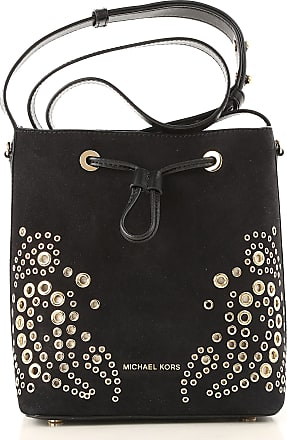 Michael Kors Shoulder Bag for Women On Sale, Black, Suede leather, 2017, one size