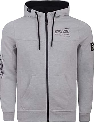 Crosshatch 2k19Sep New Zip Up Hoodie Hooded Full Zip Thru Jacket Jumper Sweatshirt [Grey - Youles, M]