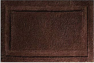 InterDesign Spa Microfiber Polyester Bath Mat, Non-Slip Shower Accent Rug for Master, Guest, and Kids Bathroom, Entryway, 34 x 21, Chocolate Brown