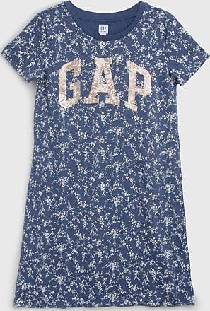 GAP Vestido GAP Infantil Floral Azul