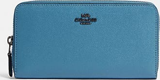 Coach Accordion Zip Wallet in Blue