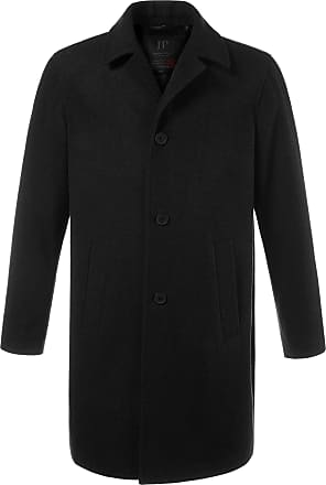 JP1880 Mens Big & Tall Long Line Smart Overcoat Black XXXXXXX-Large 705472 10-7XL