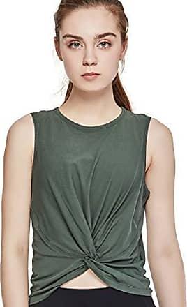 CRZ YOGA Damen Sport Shirt /Ärmelloses Sportoberteil Kurzarm T Shirts Yoga Tanktop Sport Top