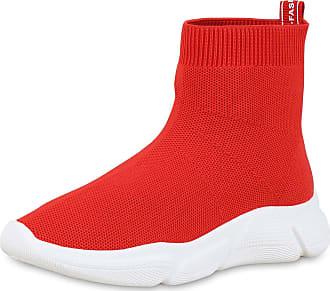 Scarpe Vita Women Sports Shoes Slip Ons Prints Knitting 180030 Red UK 6.5 EU 40