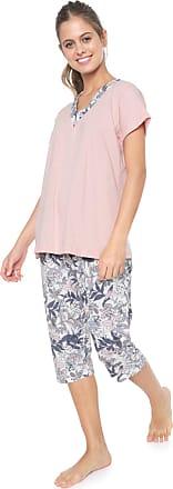 Pzama Pijama Pzama Estampado Rosa/Branco