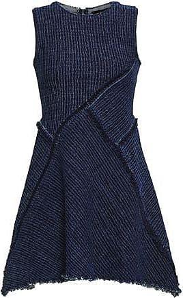 f8ac94610f2a Kitx Kitx Woman Flared Paneled Textured-denim Top Dark Denim Size 6