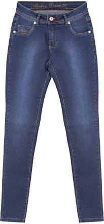 Aleatory Calça Jeans Feminina Aleatory Elegant-Azul Jeans-42