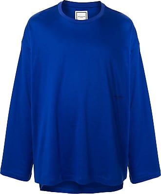 Wooyoungmi Camiseta oversized com estampa de logo - Azul