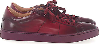 Santoni Low-Top Sneakers 20374 smooth leather Finished bordeaux