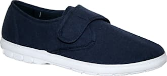Northwest Territory Mens Lightweight Touch Close Strap Canvas Summer Shoe Navy 11