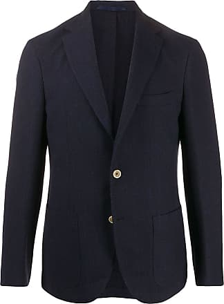 Eleventy woven single-breasted blazer - Blue