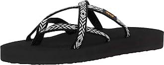 Teva Womens Olowahu Ws Flip Flops, Black (Himalaya Black 803), 4 UK