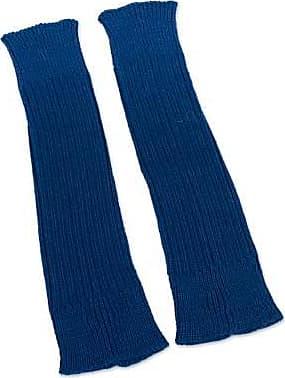 Novica 100% alpaca leg warmers, Navy Blue Winter Dancer