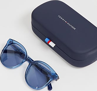 0a972ab6e17fe Tommy Hilfiger cat eye sunglasses in blue tinted frame - Blue