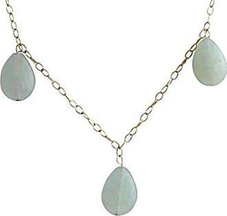 Tropfen Rose Vergoldet Blau Halskette Gemshine 50 cm Quarz Damen