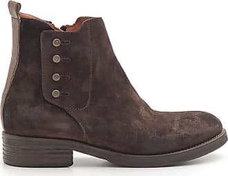 Zoe Brown suede ankle boots with buttons - 0017 SUOSCIO T. Moro - Size Brown Size: 4 UK