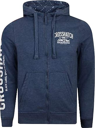 Crosshatch 2k19Sep New Zip Up Hoodie Hooded Full Zip Thru Jacket Jumper Sweatshirt [Navy - Morez, S]