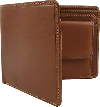 Visconti Mens VICENZA ITALIAN Leather Wallet in TAN by VISCONTI Gift Boxed Bi-Fold