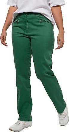 Ulla Popken Damen Stretchhose Mony, extraweich, querelastische Qualität,  grün, Gr. 21 627c308e39