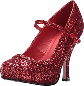 aae6efbe02 Ellie Shoes Womens 423-Candy Glitter Maryjane Platform Pump, Red, 10 US/