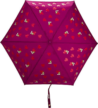 Moschino heart bear pattern umbrella - PURPLE
