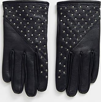 Bolongaro Trevor studded leather gloves-Black