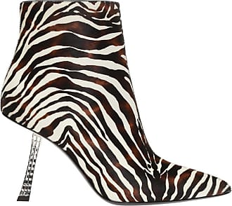 Giuseppe Zanotti Leather Ankle Boots With Decorative Heel Womens Brown