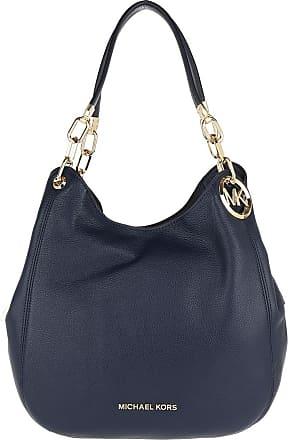 Michael Kors Lillie Large Chain Shoulder Bag Navy Shopper marine