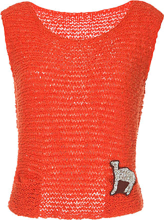 Onefifteen camel embroidered knitted vest - Yellow