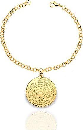 Kitbox Pulseira com medalha de oração Pai Nosso folheada a ouro 18K